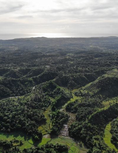 Vue aérienne de la région